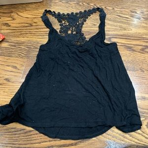 Black racer back lace tank size Small